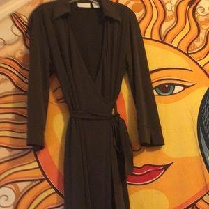 Worthinton brown wraparound dress